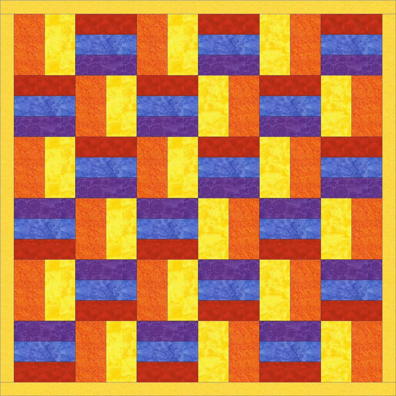 Reflections Throw Quilt Pattern