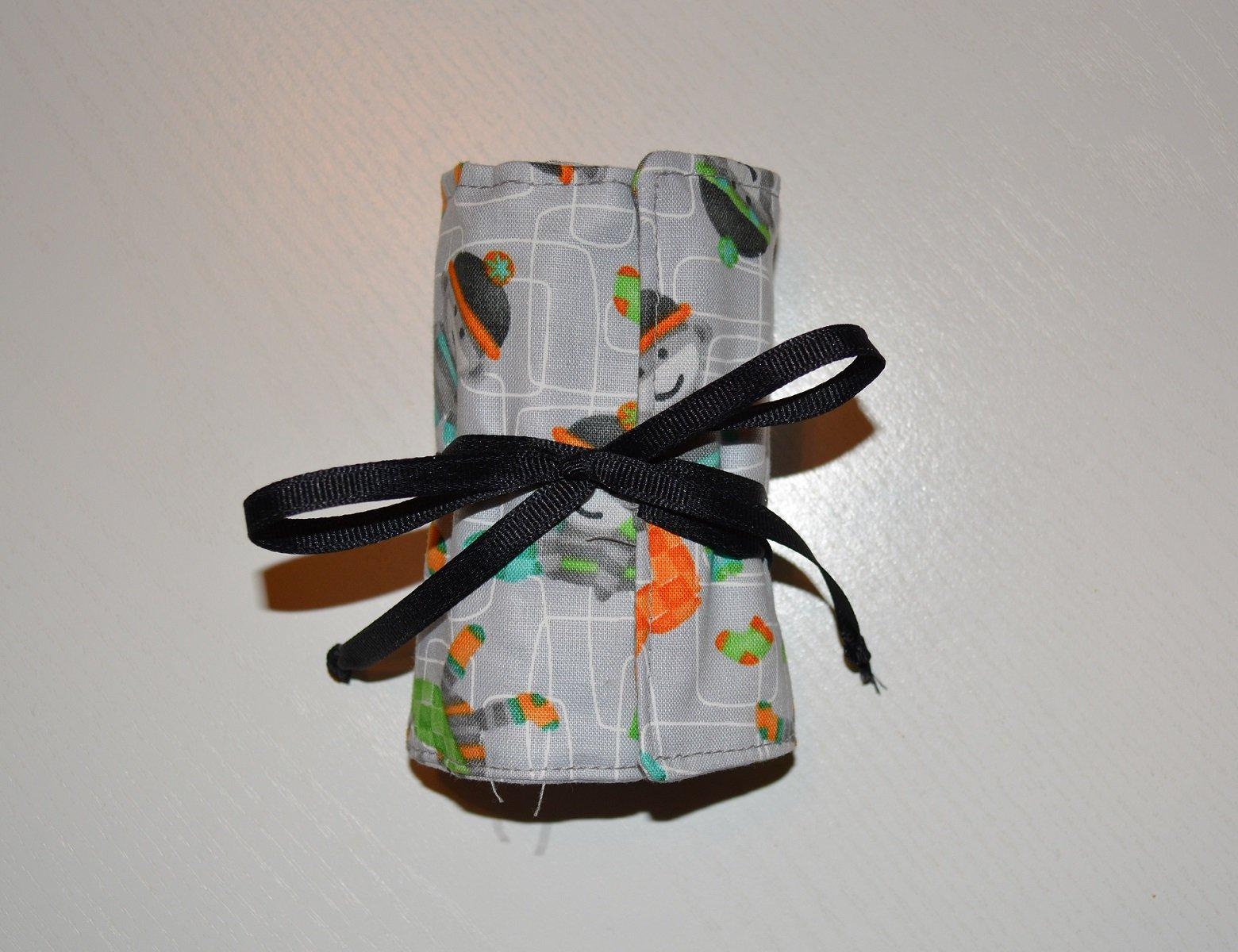 Crayon Keeper Gray Sock Monkey Kit