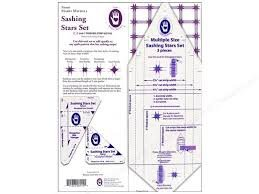 8114 Sashing Stars Original Template Set by Marti Michell