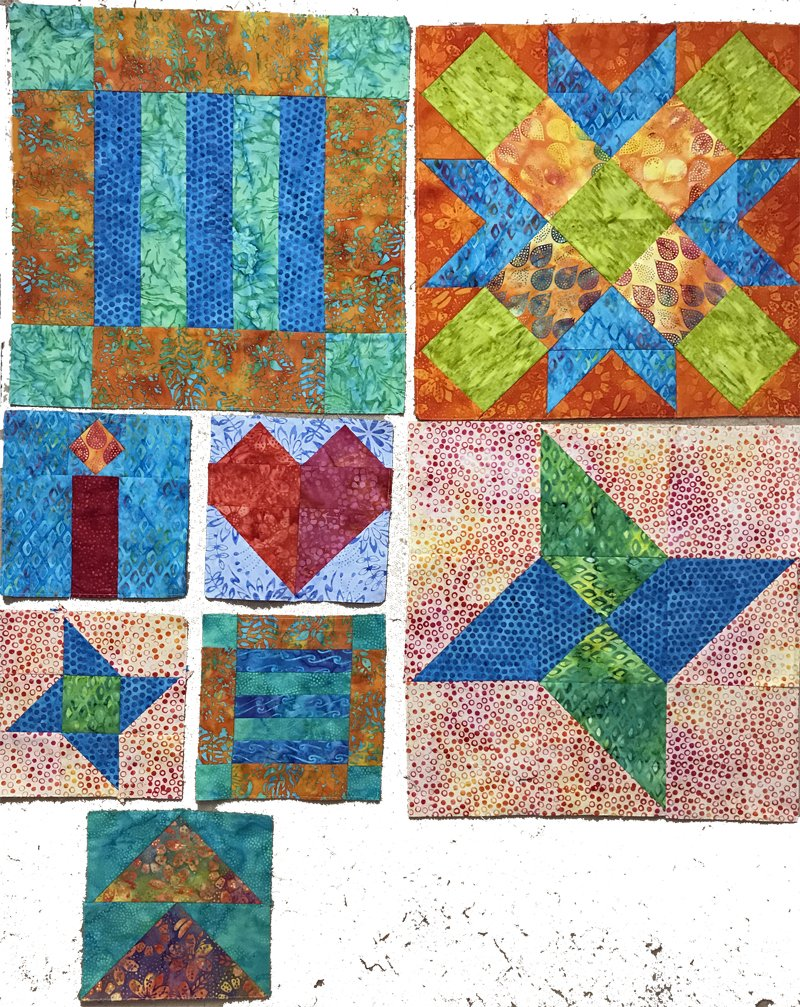 Songs of Faith Quilt Along Blocks 7-8 Pattern