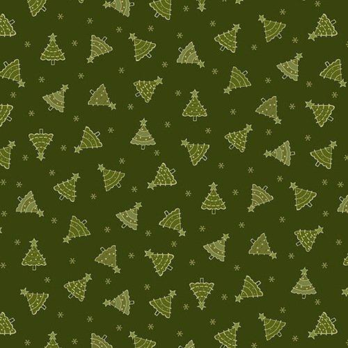 2300-66 Green Tonal Trees