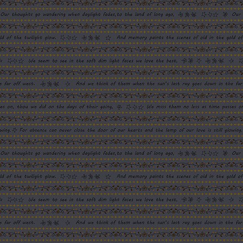 2314-77 Blue Word Stripe