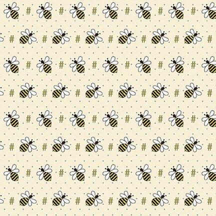 2424-33 Cream Bee Hash Tag