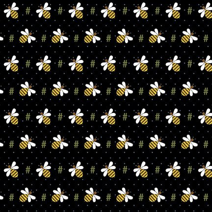 2424-99 Black Bee Hash Tag