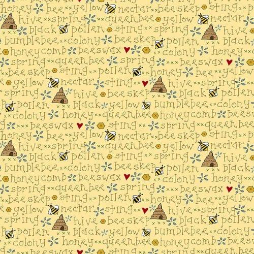 2426-44 Yellow Bee Words