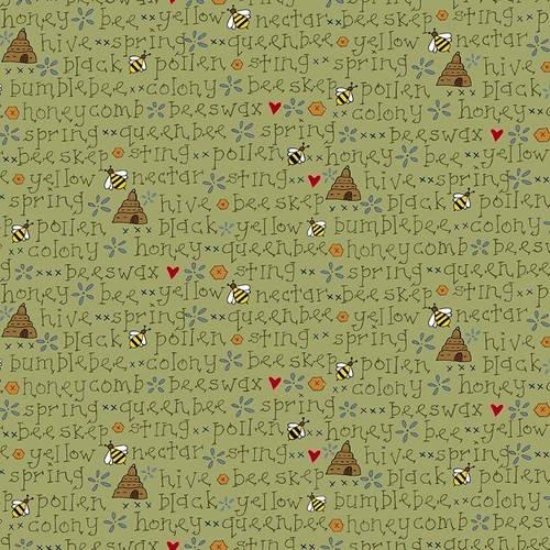 2426-66 Green Bee Words