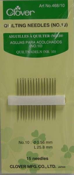 Clover Between / Quilting Needles Size 10 15ct
