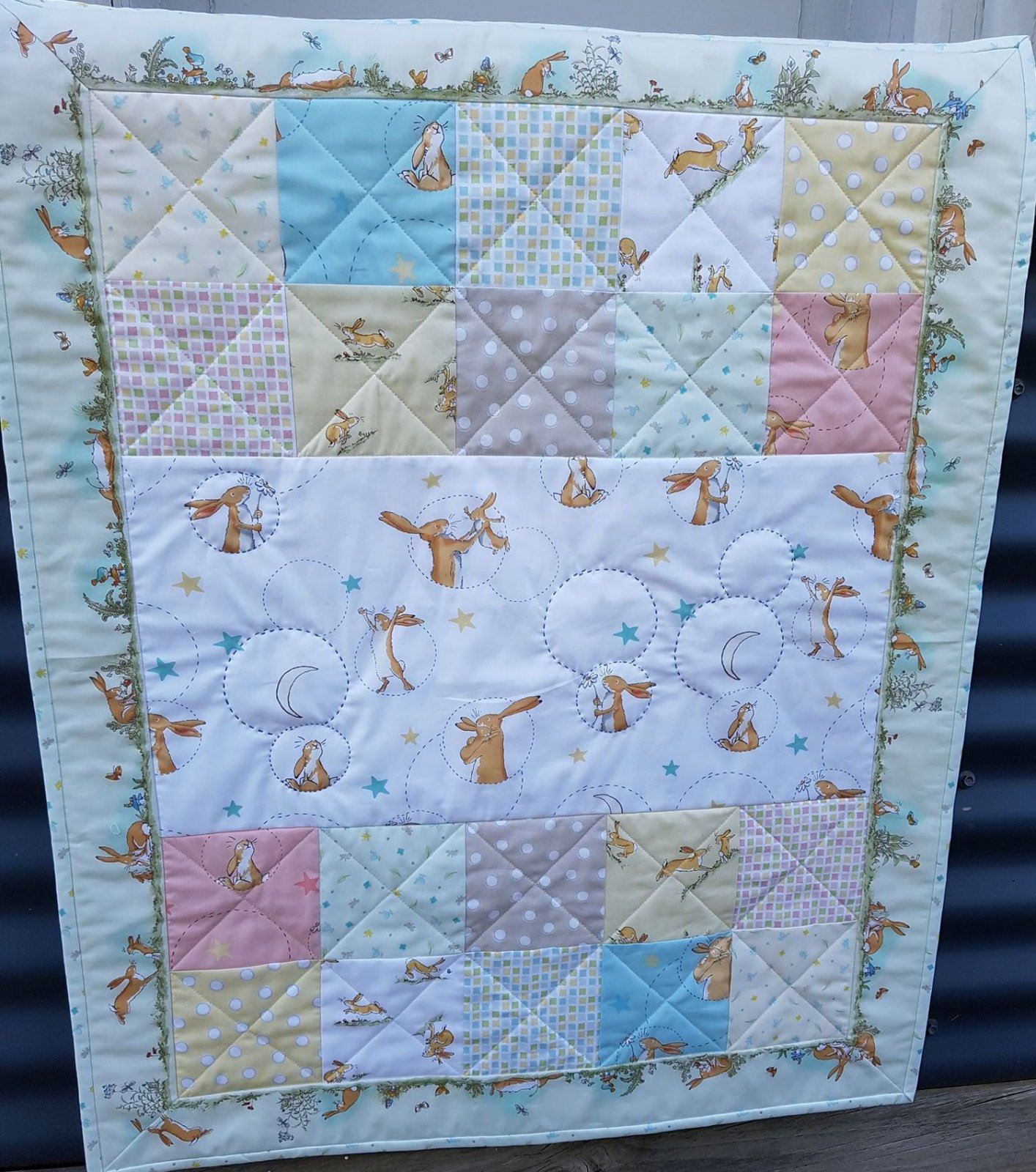 'Love You' Cot Quilt Kit