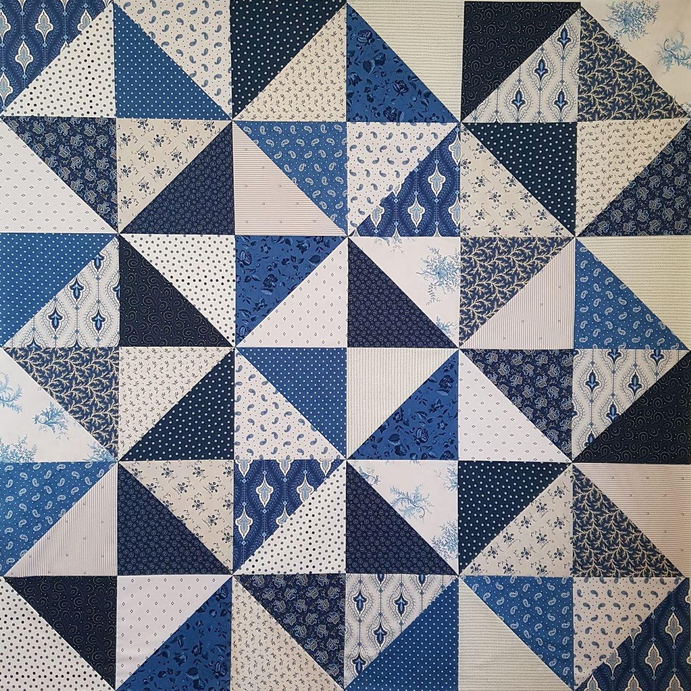 'Amour Bleu' Quilt Kit