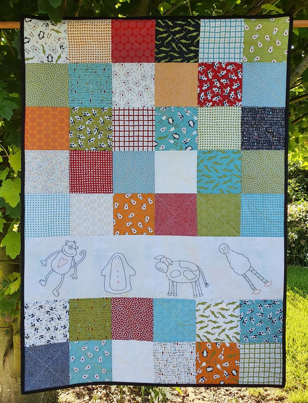 Animal Crackers Baby Quilt kit
