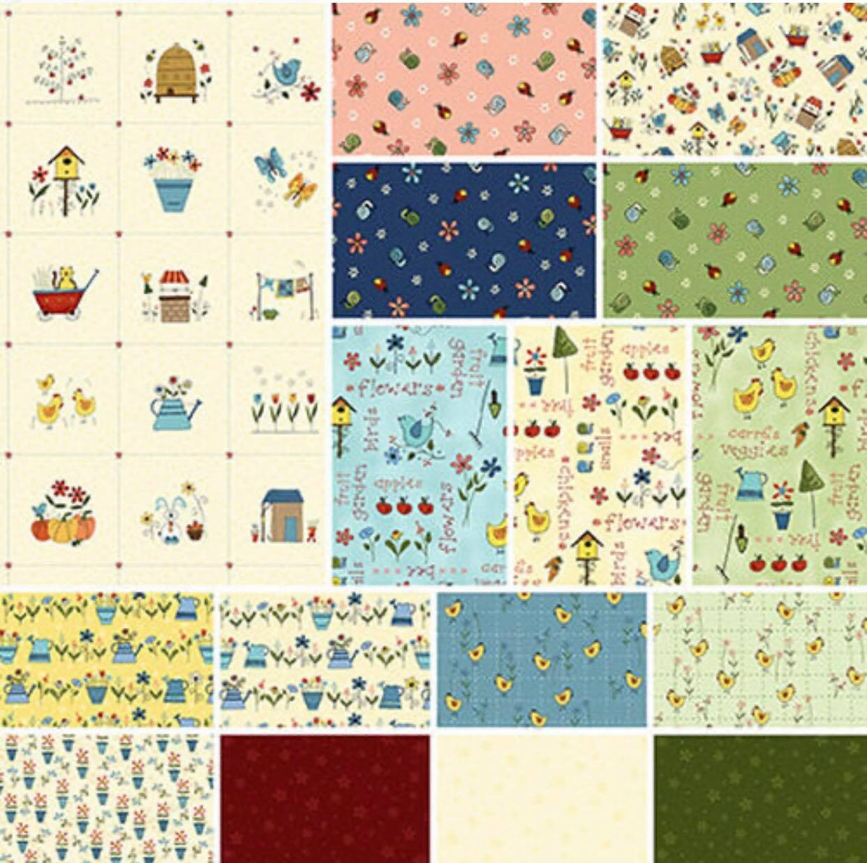 Backyard Happenings, Fat Quarter Bundle