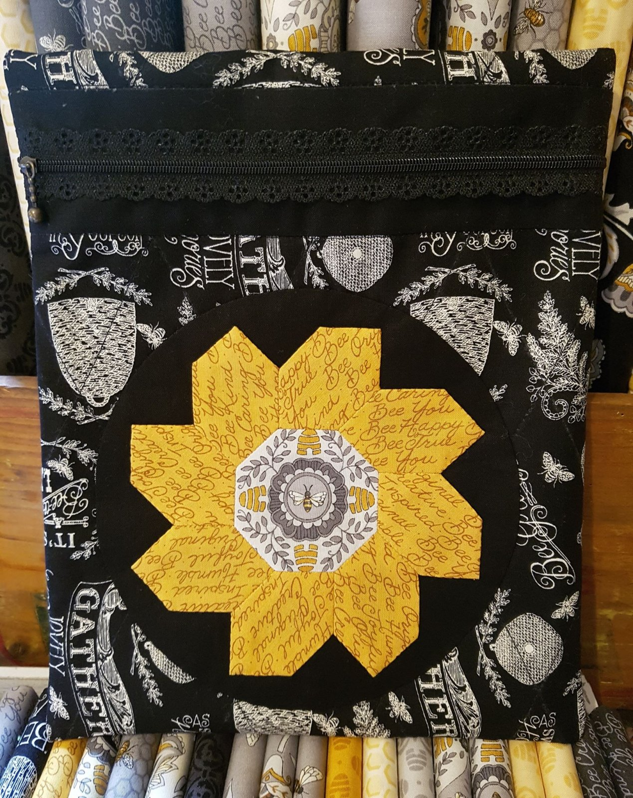 'Bee my sunshine' Zippered Pouch Kit