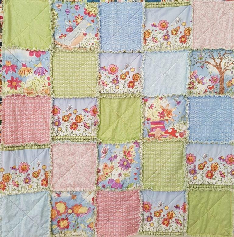 'Butterfly Hollow' Shaggy Quilt Kit
