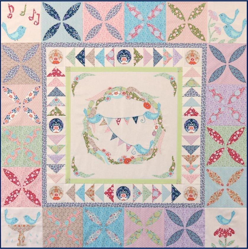 Bluebird Gathering Quilt pattern