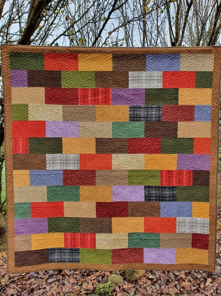 Flannel Bricks Quilt kit
