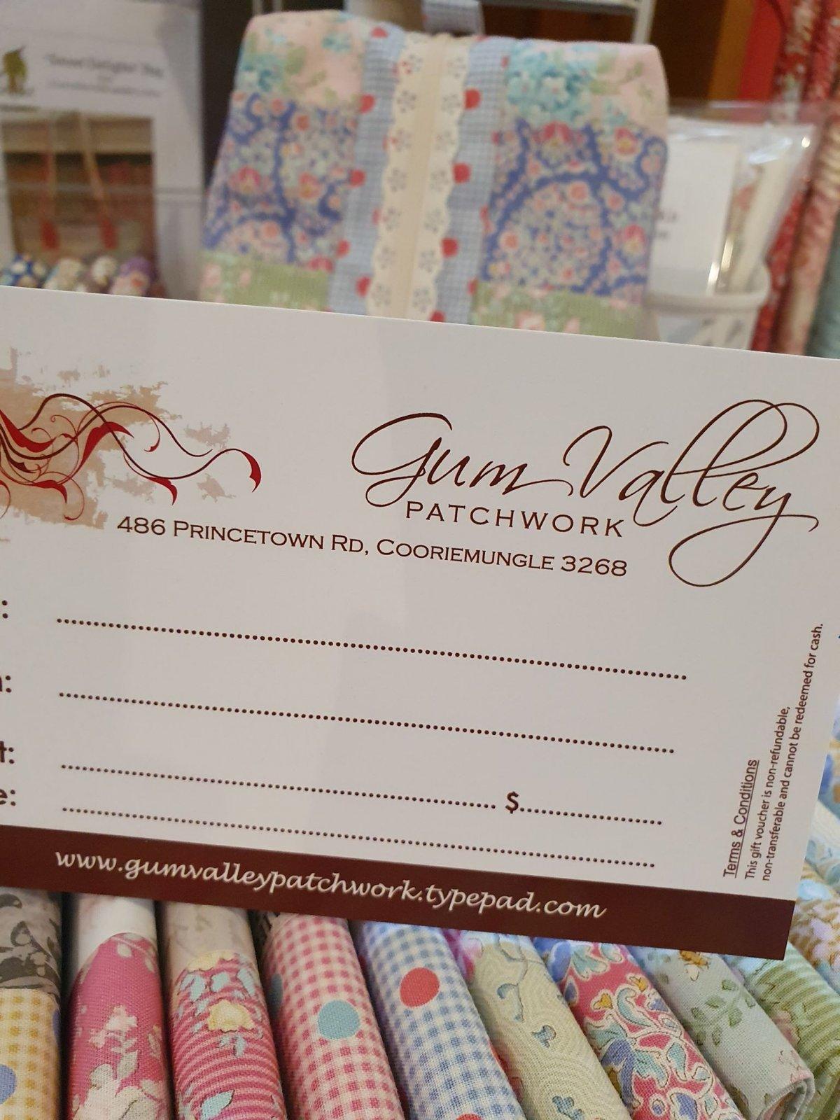 Gum Valley Patchwork Gift Voucher