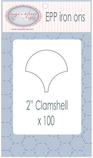 Pre Cut Iron On Clam Shells 2 inch 100 count