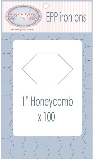 Pre Cut Iron On Honeycombs 1 inch 100 count