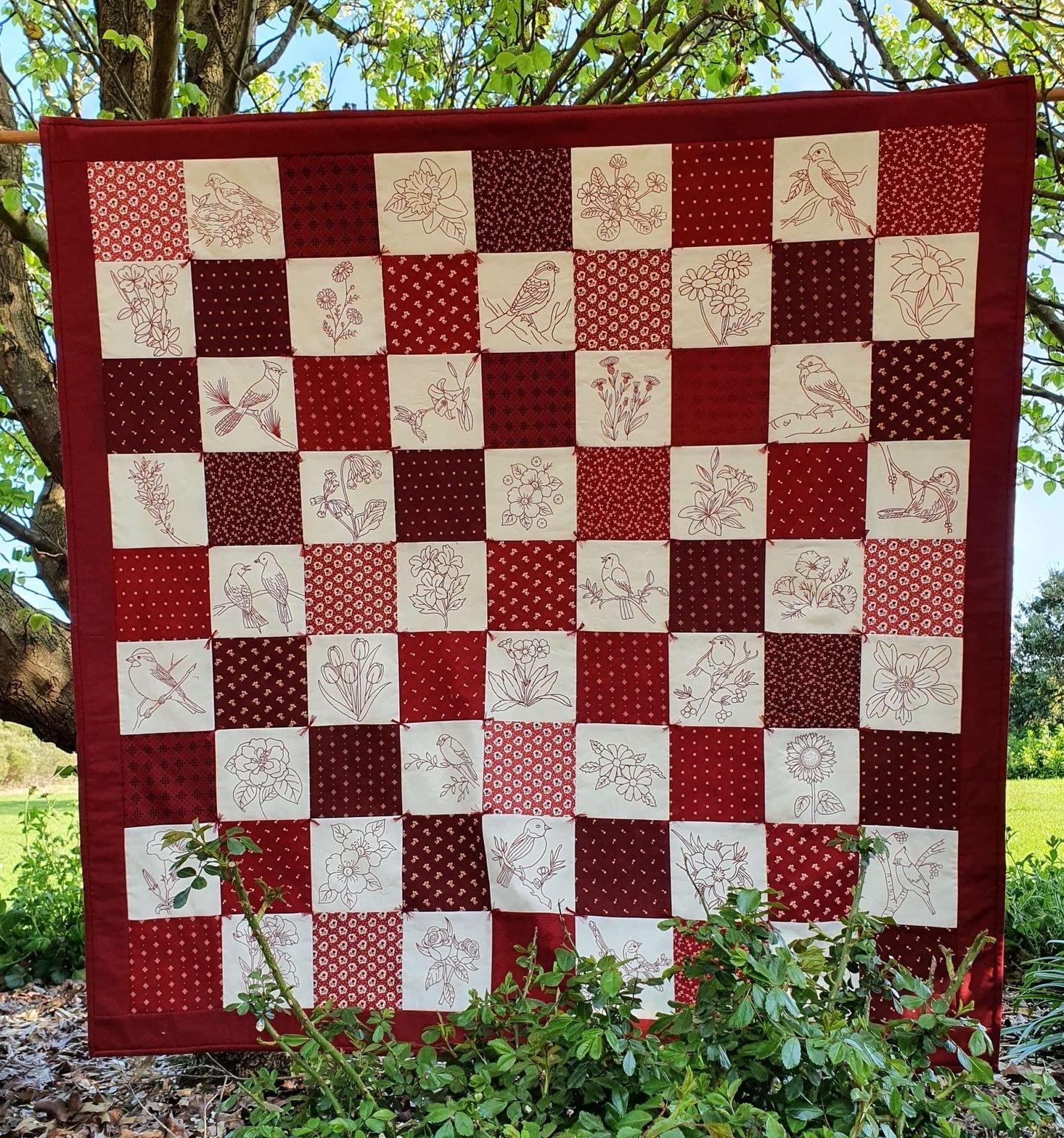 Redwork Quilt kit