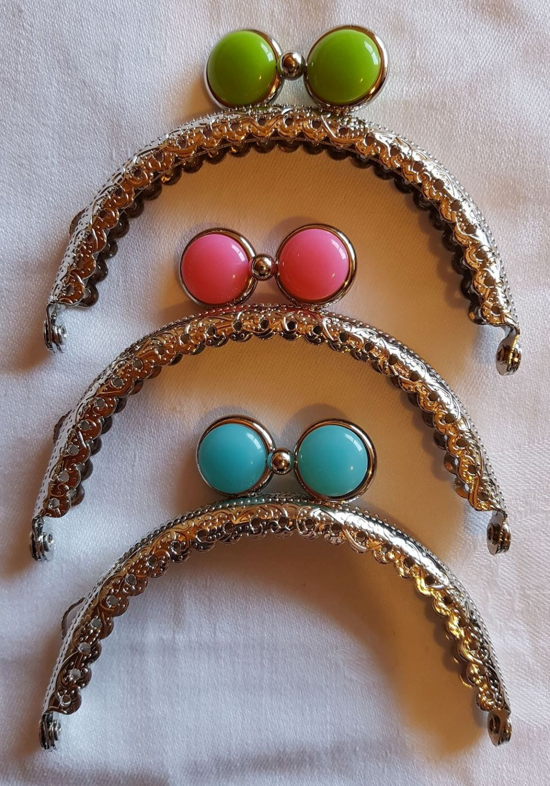 Purse frame Candy Clasp, round
