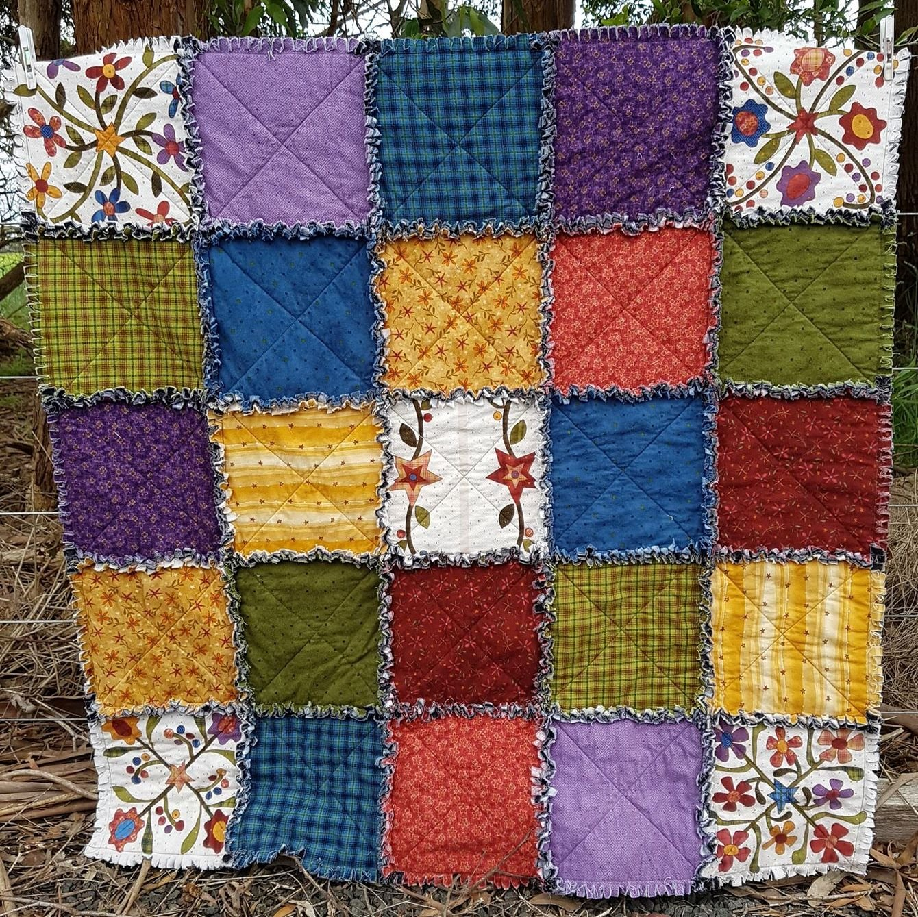 Folk Art Shaggy Raggy Quilt Kit