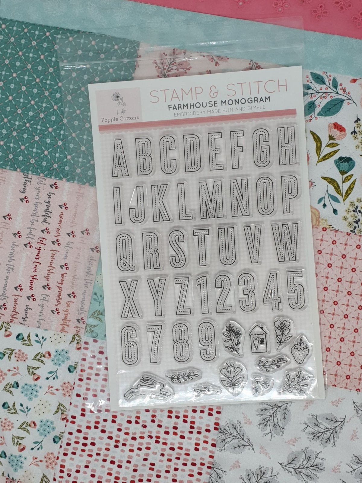 Stamp & Stitch, Farmhouse Monogram Collection