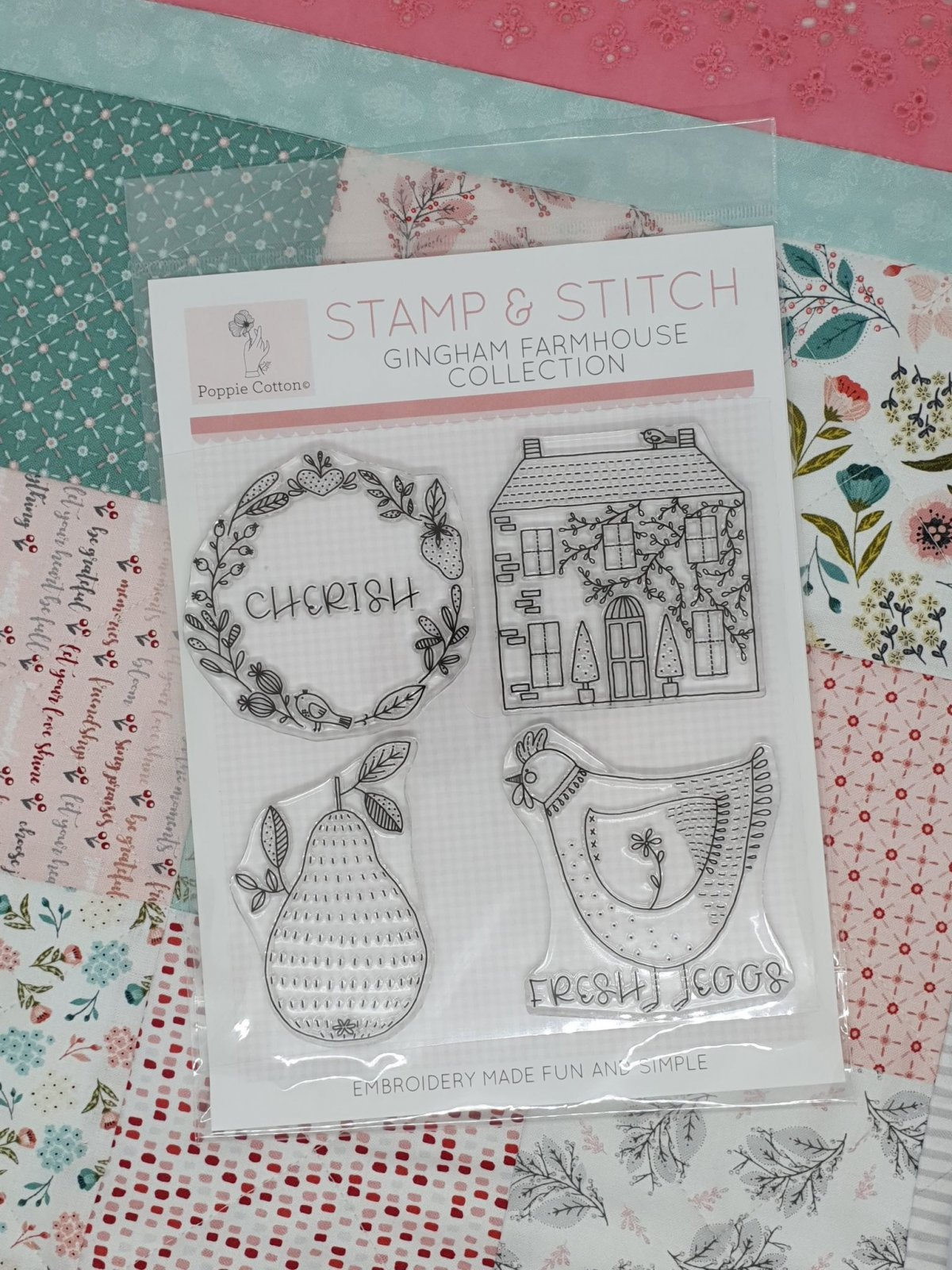 Stamp & Stitch, Gingham Farmhouse Collection