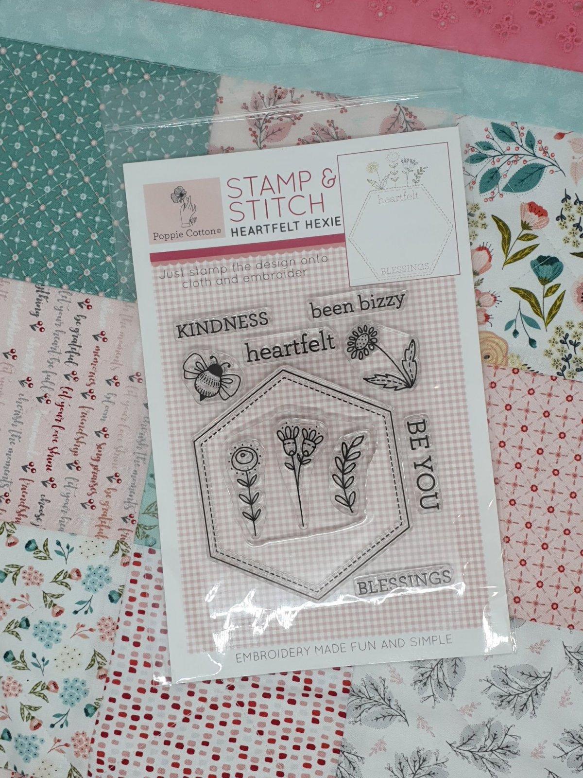 Stamp & Stitch, Heartfelt Hexie Label