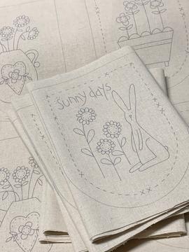 Sunny Days, Preprinted Stitchery Panel