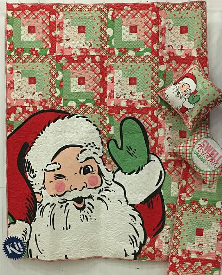 Swell Christmas Santa Quilt Kit