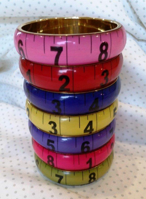 Tape measure Bangle, wide