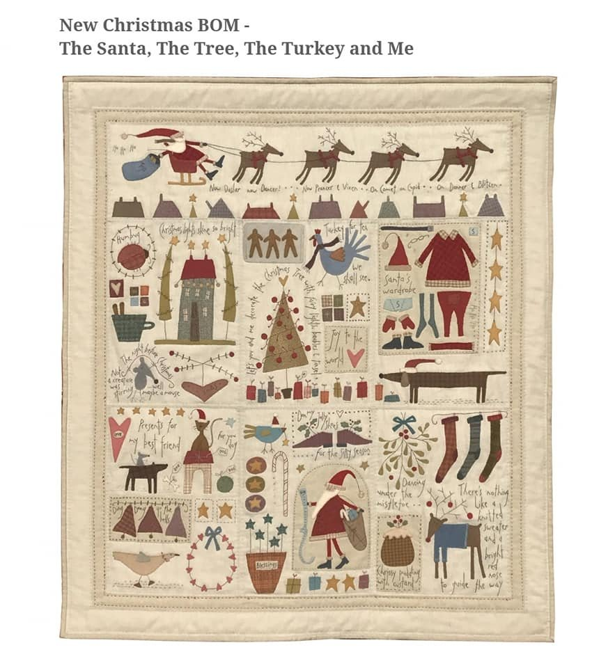 The Santa, The Tree, The Turkey and Me Block of the Month