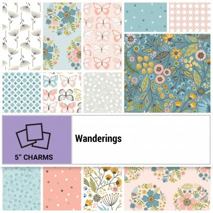 Wanderings 5 Charm Squares