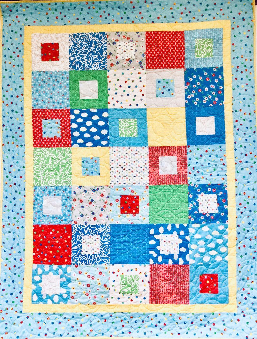 Bounce - Pandemonium  Quilt 63 x 82