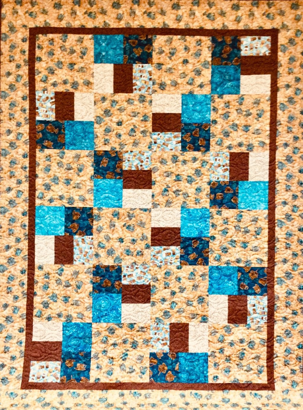 Cafe All Day Quilt 63x87