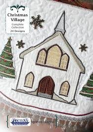 Floriani - Christmas Village Machine Embroidery Designs