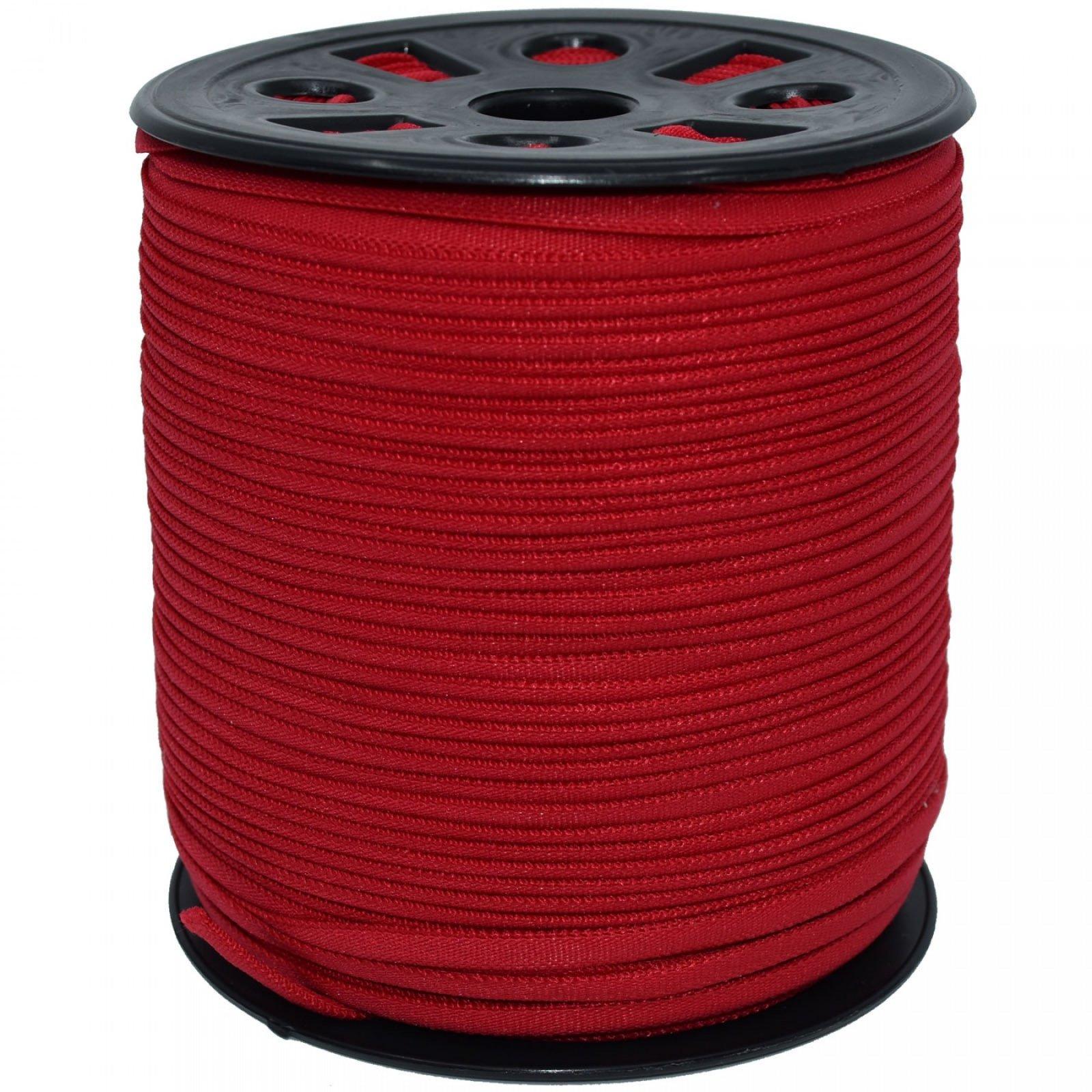 Banded Stretch Elastic. Red 16 x 10yd
