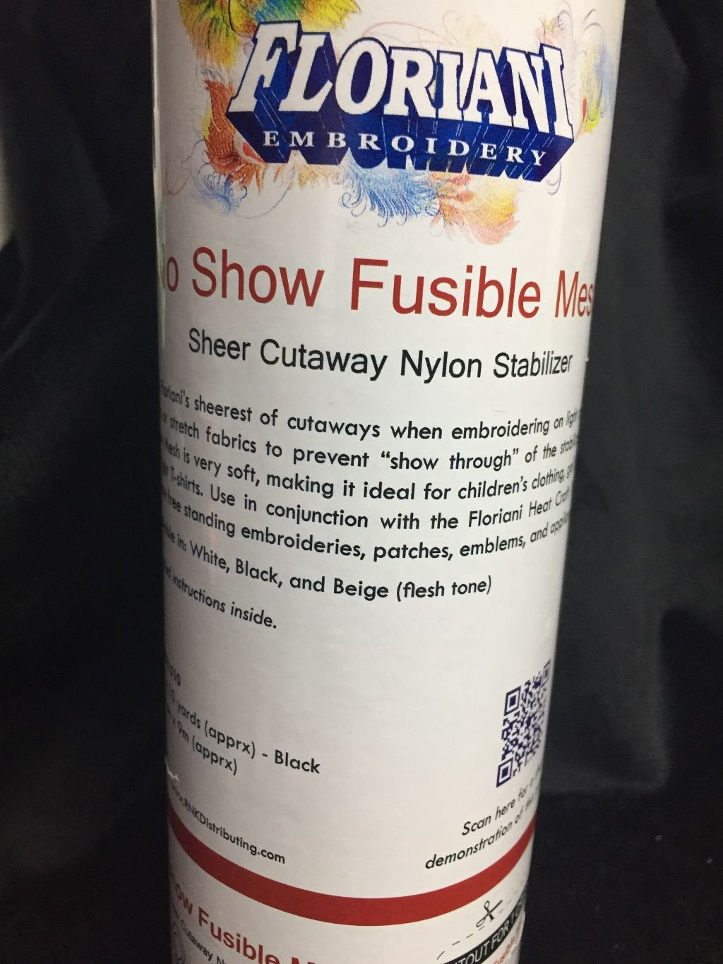 No Show Fusible Mesh Black