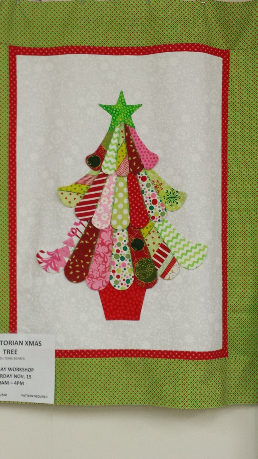 3 d victorian christmas tree wall hanging