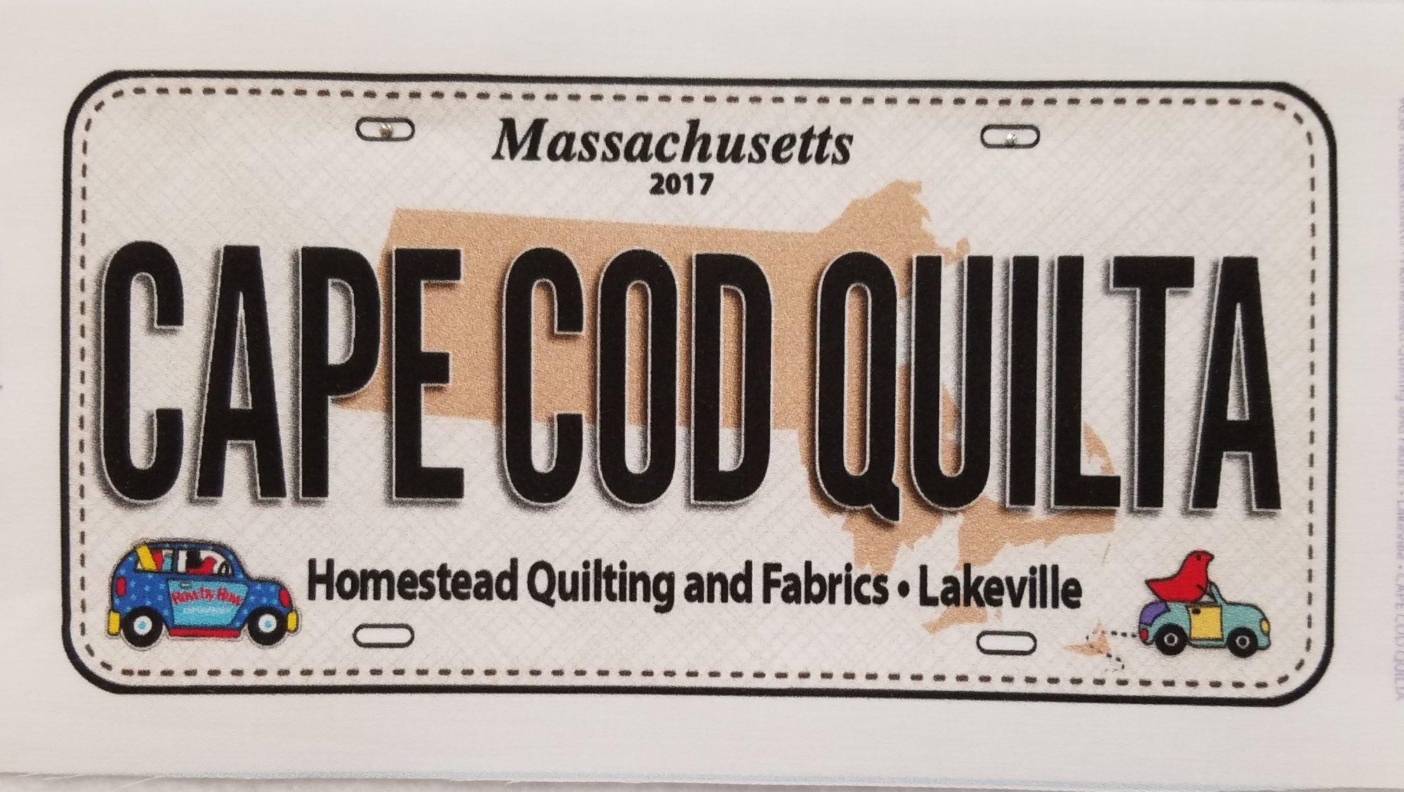 Row by Row 2017 -  License Plates CAPE COD QUILTA