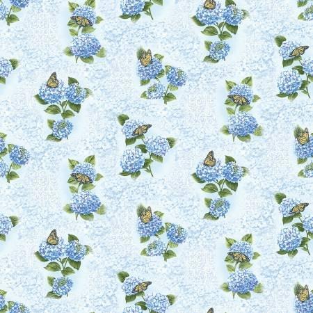 Hydrangea Blue - Blue Hydrangea Fresco