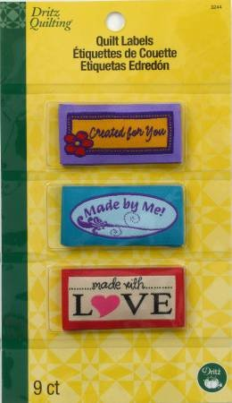 Sew In Quilt Labels  - Made With Love