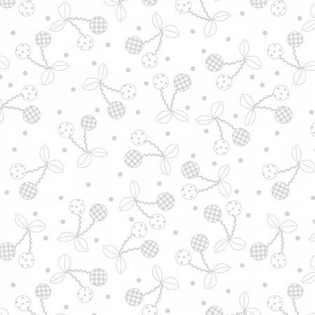 Cheerful Cherries White on White