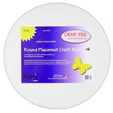 Craf-Tex Double Sided Fusible Plus - 4 pk Round Placemats