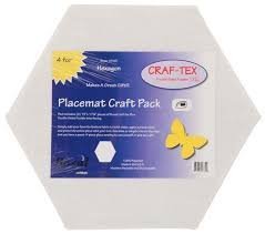 Craf-Tex Double Sided Fusible Plus - 4 pk Hexagon Placemats