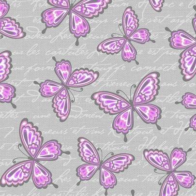 Butterfly Kisses Flannel - Pink Butterflies