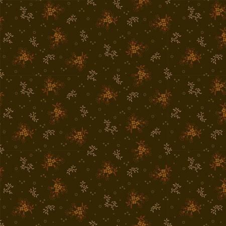Buttermilk Autumn - Mini Floral on Brown