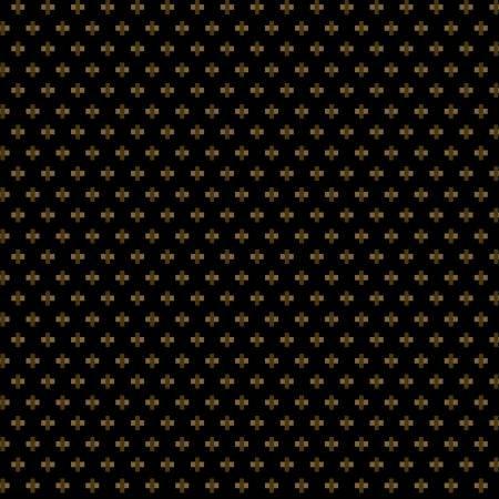 Buttermilk Winter - Mini Crosses on Black