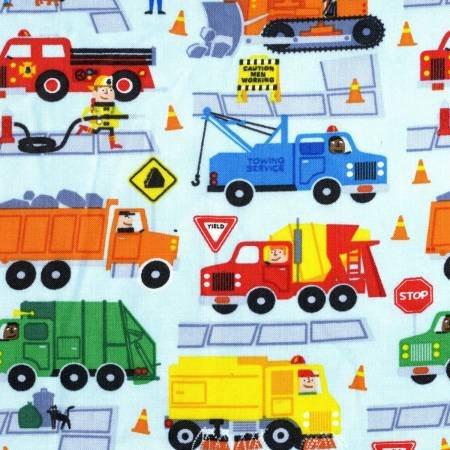 Go, Go, Go - Trucks on Sky Blue