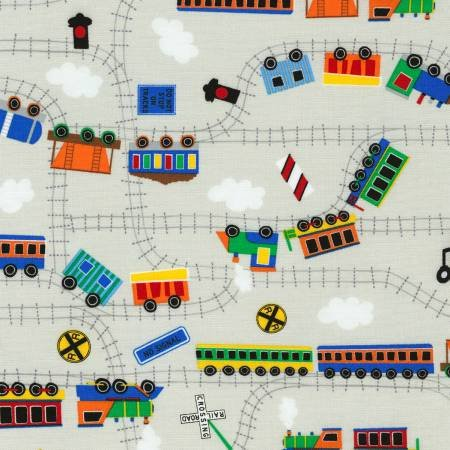 Go, Go, Go - Trains on Gray